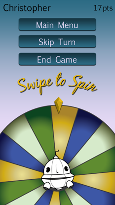 Party Wheel Swipe to Spin